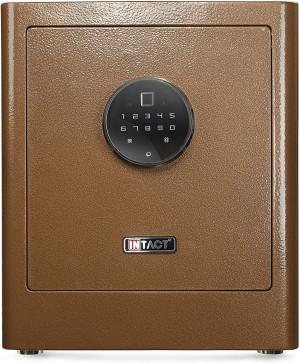 Intact Compact Quick Access Biometric Fingerprint Gun Safe with Nex-Gen Full Keypad Module Tall Bronze